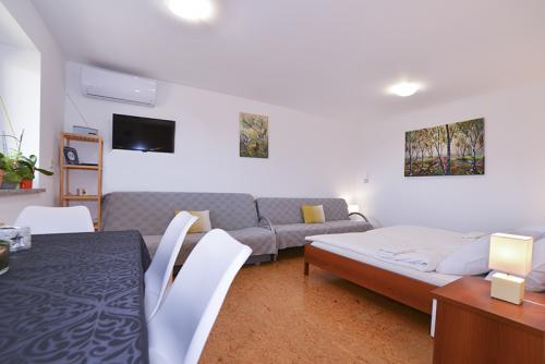 Studio with Terrace - Bedroom, Living Area with Two Sofa Bed, Dining Room and Smart TV